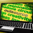 Outsource Screen Means Contract Out To Freelancer — Stok Fotoğraf #40865457
