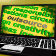 Outsource Screen Means Contract Out To Freelancer — Stockfoto #40865457