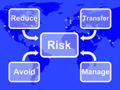 Risk Map Mean Managing Or Avoiding Uncertainty And Danger — Stock Photo