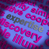 Expertise Word Means Proficiency Capabilities And Know-How — Stock Photo