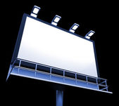 Blank Billboard Copyspace Shows Advertising Space — Stock Photo