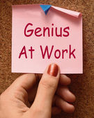 Genius At Work Means Do Not Disturb — Stock Photo