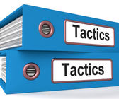 Tactics Folders Show Organisation And Strategic Methods — Stock Photo