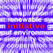 Initiative Word Means Motivation Leadership And Taking Action — Stock Photo