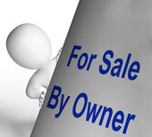 For Sale By Owner Sign Means Listing And Selling — Stock Photo