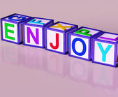 Enjoy Blocks Show Pleasant Relaxing And Pleasing — Stock Photo