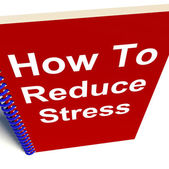 How to Reduce Stress on Notebook Shows Reducing Tension — Stock Photo