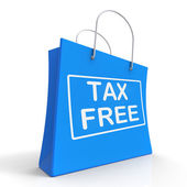 Tax Free Shopping Bag Shows No Duty Taxation — Stock Photo