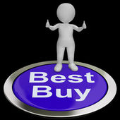 Best Buy Button Shows Quality Product Or Service — Stock Photo