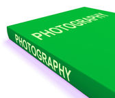 Photography Book Shows Take Pictures Or Photograph — Stock Photo