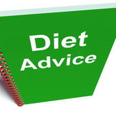 Diet Advice on Notebook Shows Healthy Diets — Stock Photo