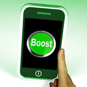 Boost Smartphone Means Improve Efficiency And Performance — Stock Photo