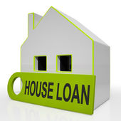 House Loan Home Shows Credit Borrowing And Mortgage — Stock Photo