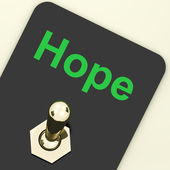 Hope Switch Shows Wishing Hoping Wanting — Stock Photo