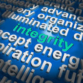 Integrity Word Cloud Shows Honesty Morality And Trust — Stock Photo