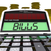 Bills Calculator Shows Accounts Payable And Due — Stock Photo