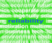 Reliability Word Means Honest Trustworthy And Dependable — Stock Photo