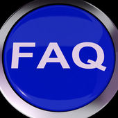 FAQ Button Shows Frequently Asked Question — Stock Photo