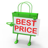 Best Price Bag Represents Bargains and Discounts — Stock Photo