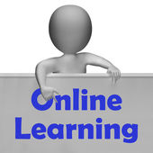 Online Learning Sign Means E-Learning And Internet Courses — Stock Photo