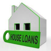 House Loans Home Means Mortgage Interest And Repay — Stock Photo