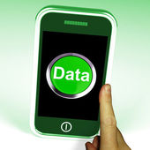Data Smartphone Shows Documents Information And Cloud — Stock Photo