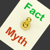 Fact Myth Lever Shows Correct Honest Answers — Stock Photo