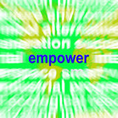 Empower Word Cloud Means Encourage Empowerment — Stock Photo