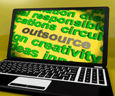 Outsource Screen Means Contract Out To Freelancer — Stock Photo