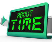 About Time Clock Shows Late Or Overdue — Stock Photo