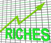 Riches Chart Graph Shows Increase Cash Wealth Revenue — Stock Photo