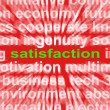 Stock Photo: Satisfaction Word Shows Enjoyment Contentment And Fulfilment