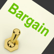 Stock Photo: Bargain Switch Shows Discount Promotion Or Markdown