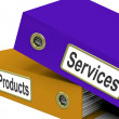 Stock Photo: Services Products Folders Show Business Service And Merchandise