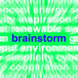 Foto Stock: Brainstorm Word Means Thinking Creatively Problem Solving And Id