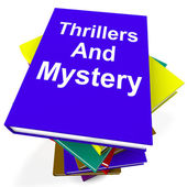 Récits à suspense et mystère livre pile montre genre romanesques — Photo