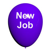 New Job Balloon Shows New Beginnings in Careers — Stock Photo