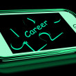 Career Smartphone Shows Occupation Profession Or Work — стоковое фото #41150571
