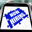 Stock Photo: Now Hiring Smartphone Means Job Vacancy And Recruitment