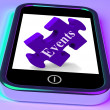 Events Smartphone Means Up-Coming Functions And Calendar — Stockfoto