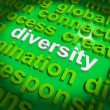 Stock Photo: Diversity Word Cloud Shows Multicultural Diverse Culture