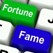 Fortune Fame Keys Show Wealth Or Publicity — Stock Photo #41156737