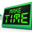 Make Time Clock Means Fit In What Matters — Stock Photo