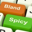 Stock Photo: Bland Spicy Keys Shows Plain Hot Cooking Flavours