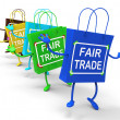 Fair Trade Bags Show Equal Deals and Exchange — Stock Photo #41158201