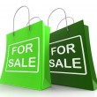 Stock Photo: For Sale Bags Represent Retail Selling and Offers