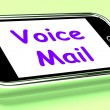 Voice Mail On Phone Shows Talk To Leave Message — Stock Photo