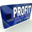 Stock Photo: Profit on Credit Debit Card Shows Earn Money