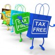 Stock Photo: Tax Free Bags Represent Duty Exempt Discounts