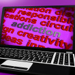 Stock Photo: Addiction Screen Means Obsession Enslavement Or Dependence